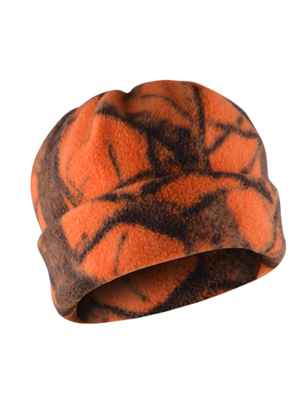 čiapka polar fleece camo Orange 1