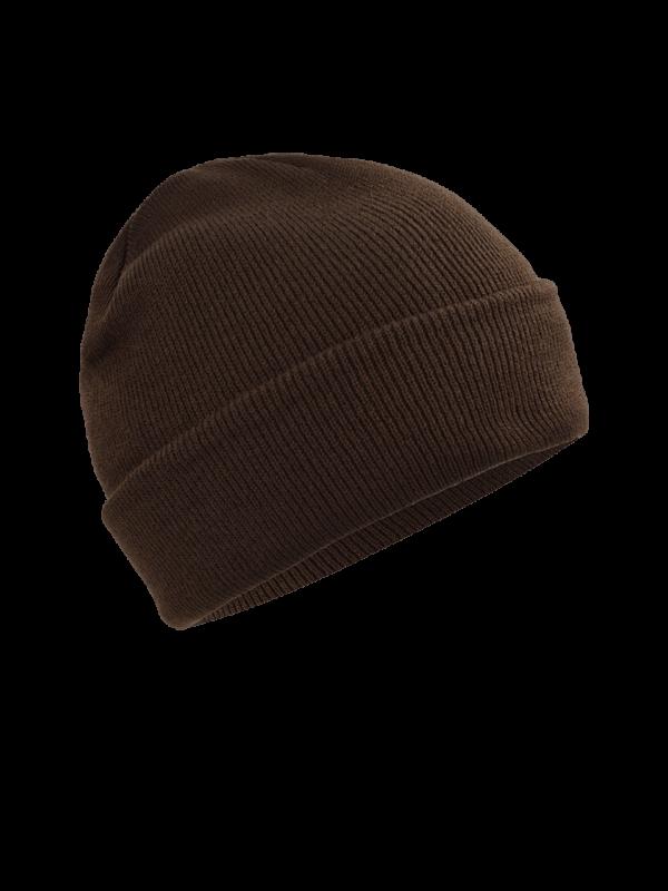 pletená čiapka hnedá
