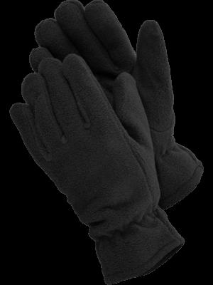 fleece rukavice čierne 1